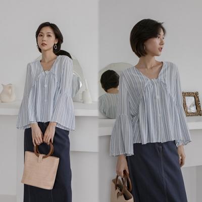 【韓國K.W.】(預購)女款夏日度假必備襯衫-2色