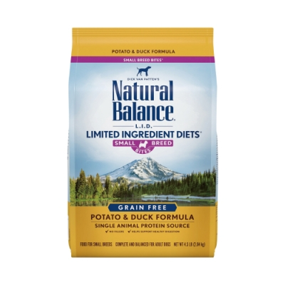 Natural Balance 低敏無穀馬鈴薯鴨肉全犬配方-小顆粒(12磅/5.4kg)