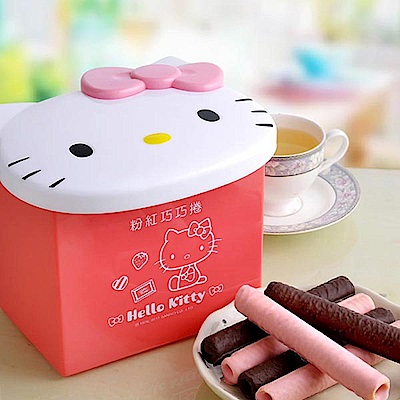 Hello Kitty粉紅巧巧捲禮盒(6盒入)