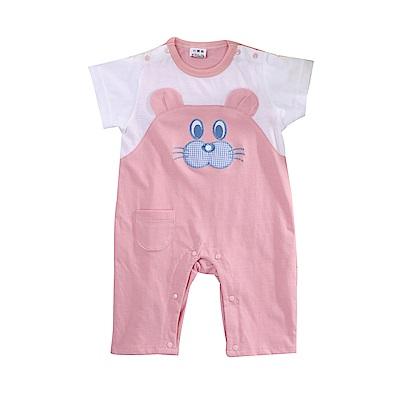 小熊短袖連身衣 k51095 魔法Baby