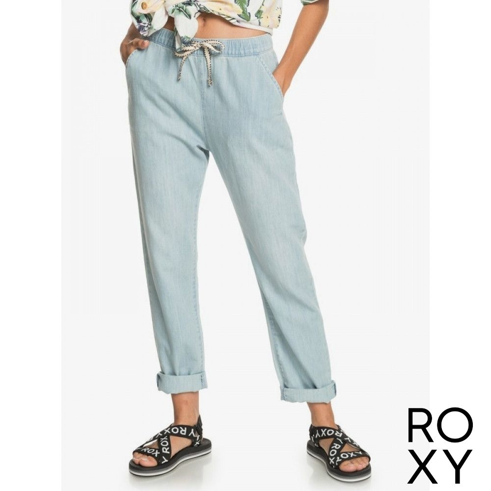 【ROXY】SLOW SWELL BEACHY BEACH 長褲 淺藍