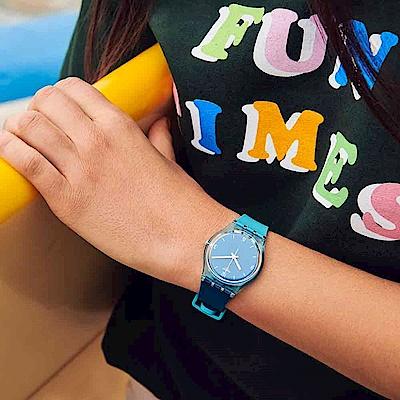 Swatch Energy Boost 系列 FRAICHEUR 輕藍海域手錶-34mm