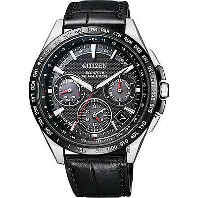 CITIZEN Eco-Drive  鈦 光動能GPS衛星對時錶-黑/ 43mm