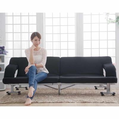 Simple Life雙人沙發14段免組裝折疊床-SF
