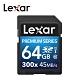 Lexar Premium Series 300x SDXC UHS-I 記憶卡 64G product thumbnail 1