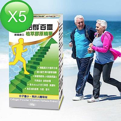 [團購_5入]諾得百靈植萃膠原精華(50gx5瓶)