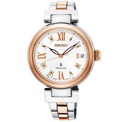 SEIKO 精工 LUKIA晶鑽時尚機械手錶 SRP850J1-半金/33mm