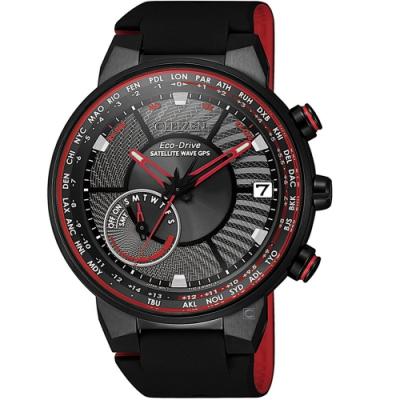 CITIZEN星辰GPS衛星對時光動能手錶(CC3079-11E)-紅