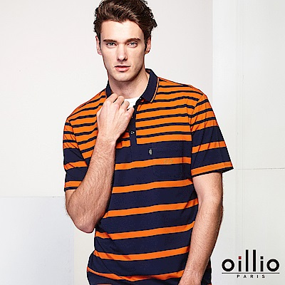 oillio歐洲貴族 短袖超柔POLO 活力時尚穿搭 橘色