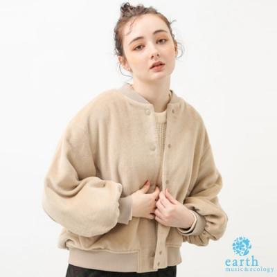 earth music 蓬袖剪裁毛絨感夾克外套