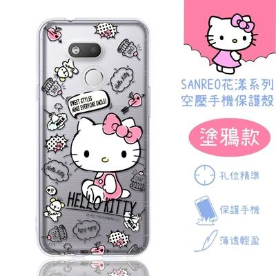 【Hello Kitty】HTC Desire 12s 花漾系列 氣墊空壓 手機殼(塗鴉)