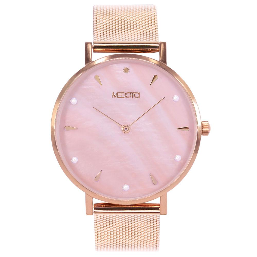 MEDOTA Thetis 系列粉紅色貝殼面簡約時尚女錶
