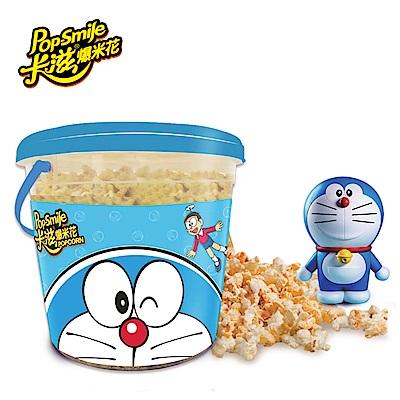 卡滋爆米花 哆啦A夢限定版 雙味超級桶-原味+焦糖牛奶(530g/桶)