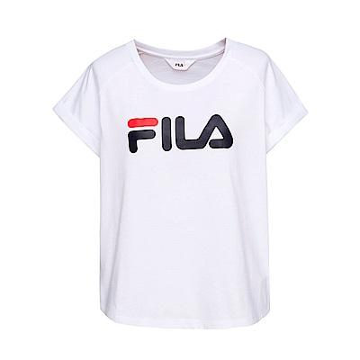 FILA 女款短袖圓領T恤-白色 5TET-1505-WT