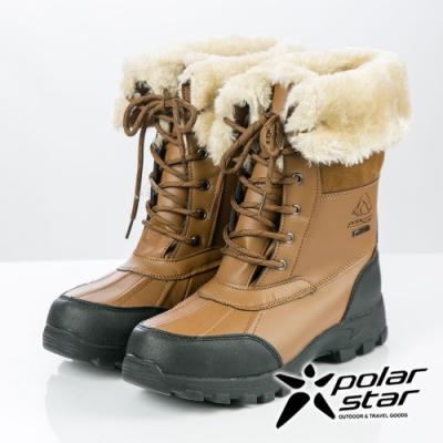 PolarStar 女防水保暖雪鞋│雪靴│保暖靴『淺咖啡』P19636