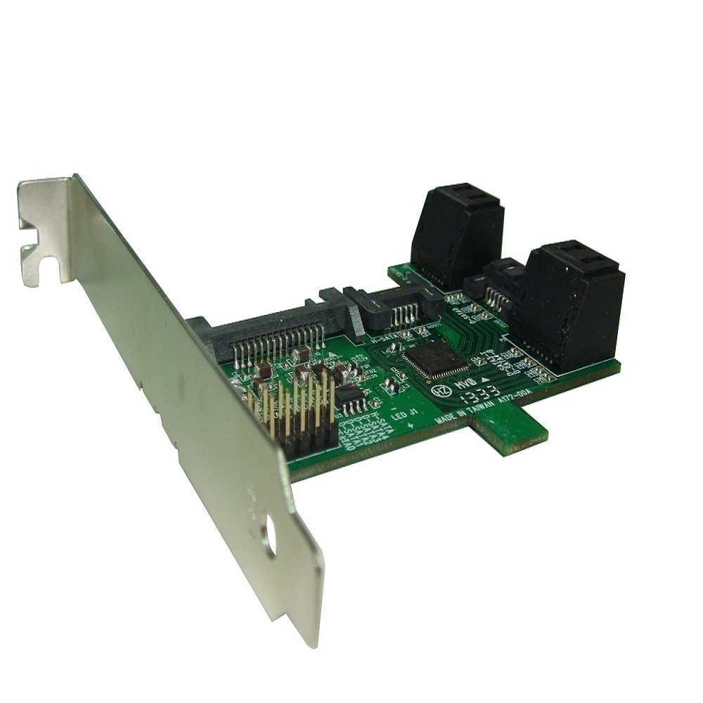 PCI/PCIe插槽SATA 6.0Gbps 1轉 5Port Multiplier擴充卡