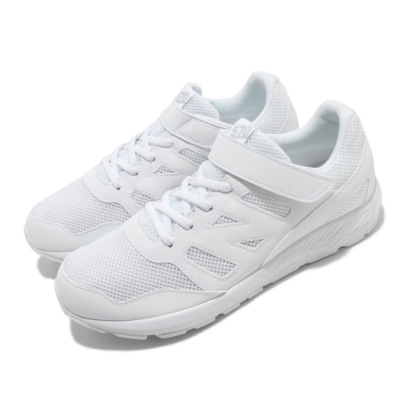 New Balance 慢跑鞋 570 Wide 寬楦 運動 童鞋 紐巴倫 輕量 舒適 魔鬼氈 輕便 中大童 白 YT570WGW