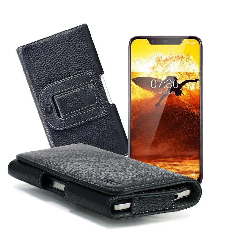Xmart for Nokia 8.1/Nokia 7 Plus 麗緻真皮腰掛皮套