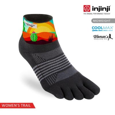 【INJINJI】TRAIL女野跑避震吸排五趾短襪SX[沙漠仙人掌]
