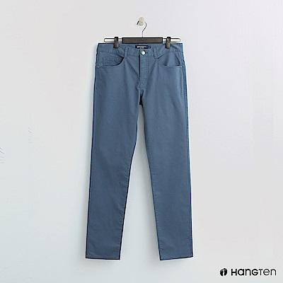 Hang Ten - 男裝 -純色休閒直筒褲-藍