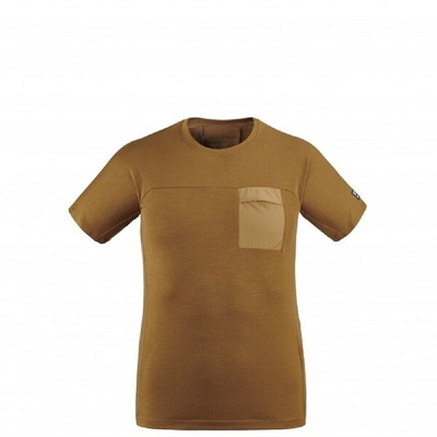 MILLET 男 TRILOGY SIGNATURE WOOL 短袖排汗衣 褐-MIV86559050