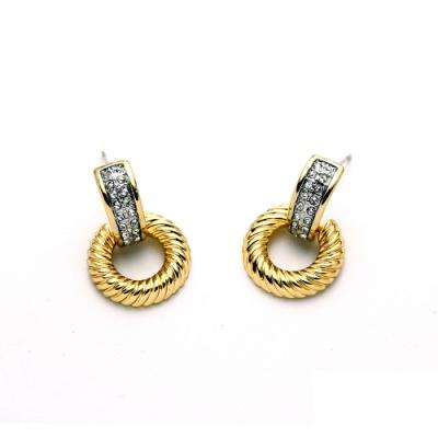 STORY故事銀飾-氣質時尚耳環-Circle晶鋯耳環