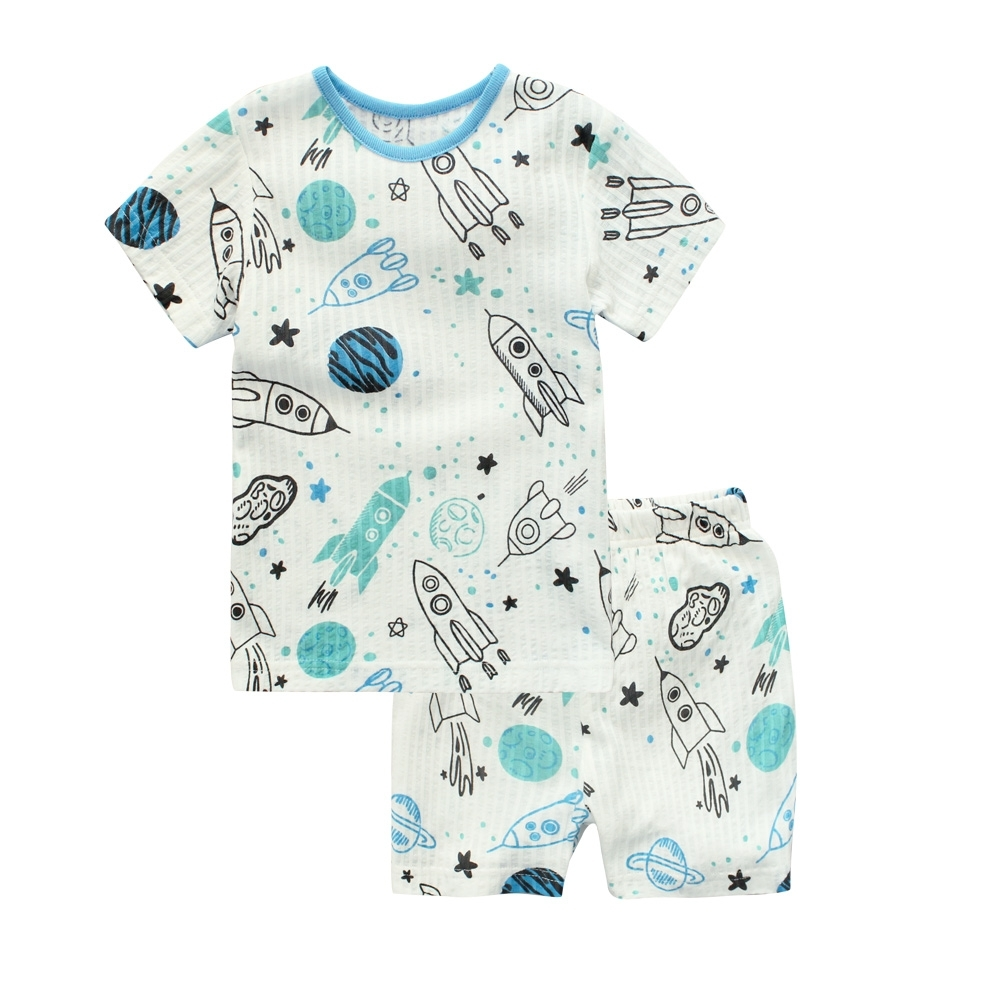 Baby童衣 休閒套裝 居家套裝 兒童套裝 夏日輕薄涼感童裝 90067