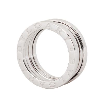 BVLGARI B.zero1 18K白金三環戒環-50