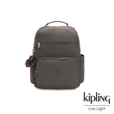 Kipling 極簡深卡其灰色大容量媽媽包-SO BABY