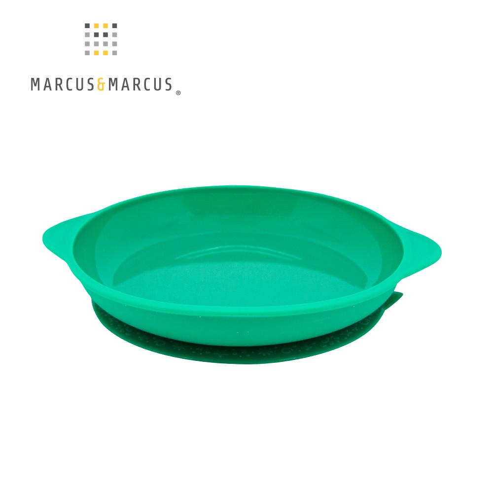 【MARCUS&MARCUS】動物樂園幼兒學習吸力餐盤-大象(綠)