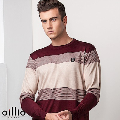 歐洲貴族oillio 長袖線衫 天絲棉布料 品味穿搭 紅色