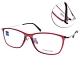 ZEISS蔡司眼鏡 簡約方框款/透紅-銀 #ZS70010 F320 product thumbnail 1