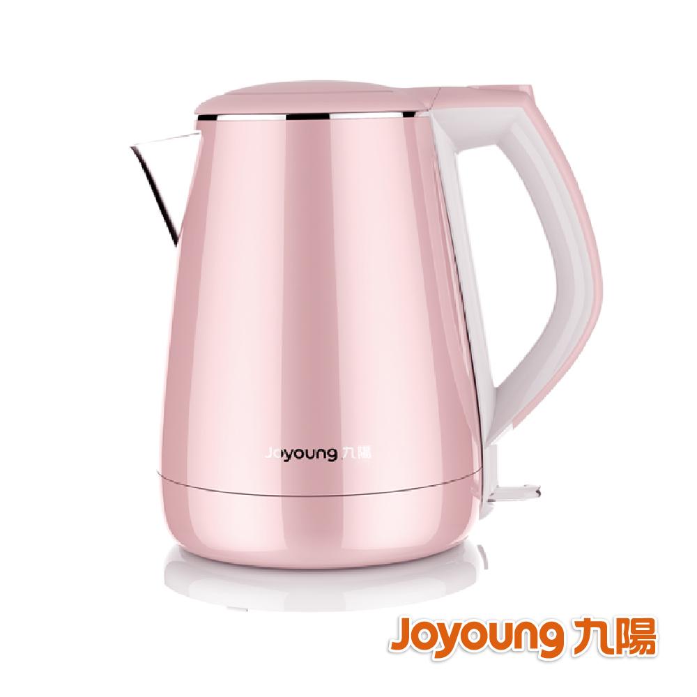 九陽 公主系列不鏽鋼快煮壺-K15-F026M(粉) 贈公主蝴蝶陶瓷杯組(粉)