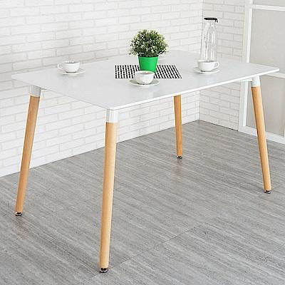 Homelike 艾咪北歐風大餐桌(亮麗白)-125x80x74cm