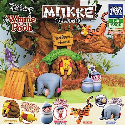 全套4款 日本正版 小熊維尼 躲貓貓公仔 MIIKKE 扭蛋 維尼 迪士尼 865510
