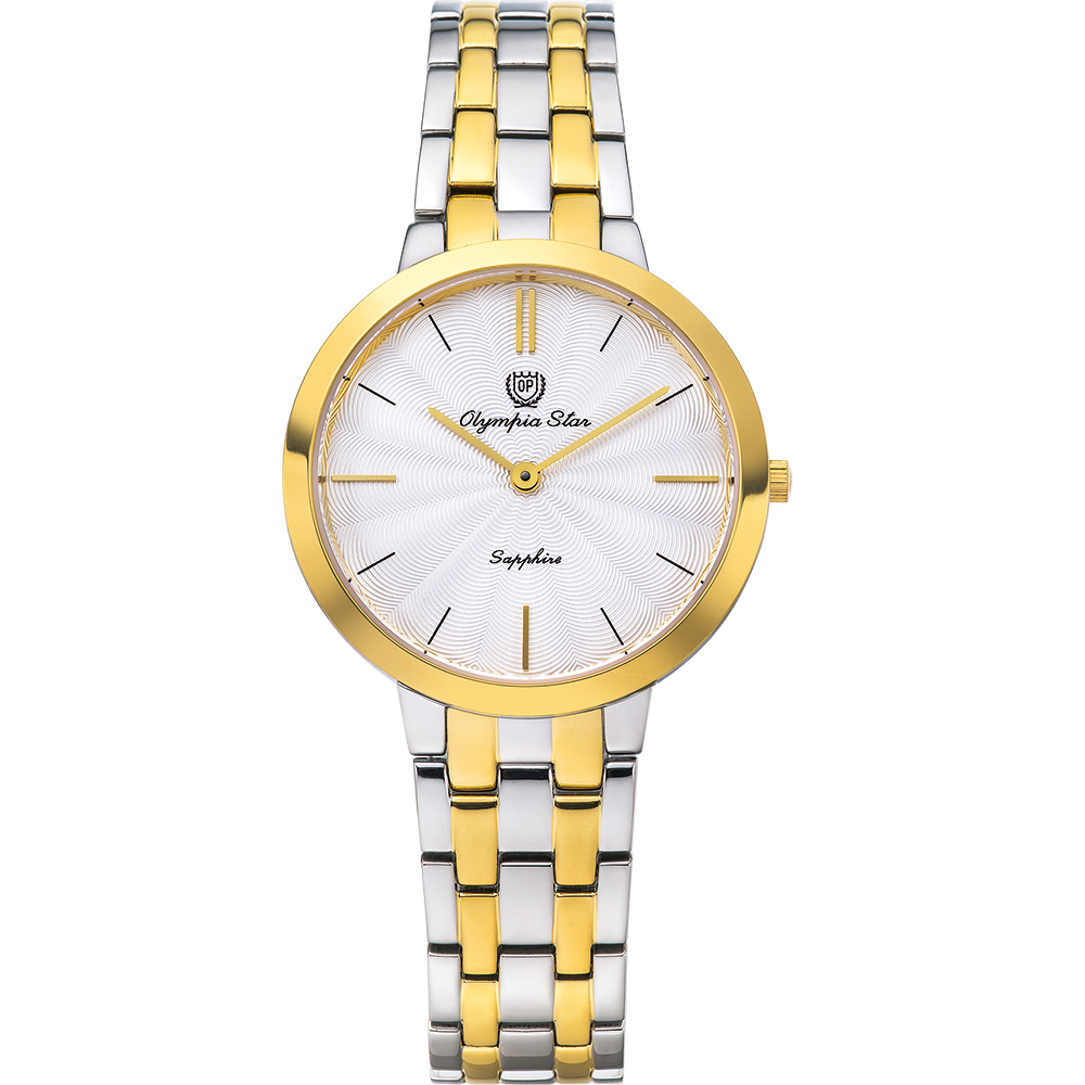 OlympiaStar 奧林比亞之星 時尚水波紋腕錶-雙色/34mm  58060LSK