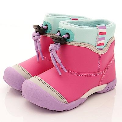 零碼19cm-日本月星頂級競速童鞋 防水速乾雨鞋 21854粉紅