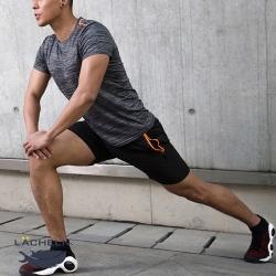 【LACHELN】男款-抗UV快乾吸排彈力運動套裝-深灰色(L92MX01)