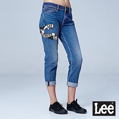 Lee 401 九分中腰合身小直筒牛仔褲/101+中藍色