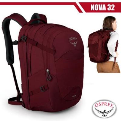 OSPREY 女新款 NOVA 32L 超輕多功能城市休閒筆電背包_鯡魚紅 R