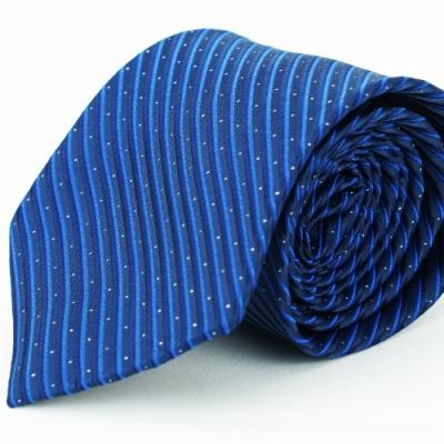 Alpaca 藍色條紋亮點領帶fast