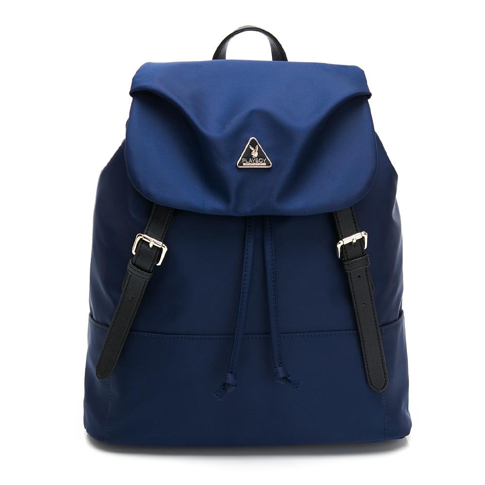 PLAYBOY-  抽繩後背包 Triangle 系列 -藍色