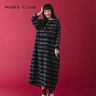 【MOSS CLUB】長版設計款條紋-洋裝(三色)