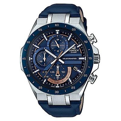 CASIO EDIFICE立體感3D錶盤太陽能電力腕錶-(EQS-920BL-2A)/48