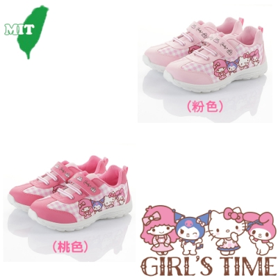 Hello Kitty 兒童鞋 輕量減壓抗菌防臭休閒鞋-粉&桃色