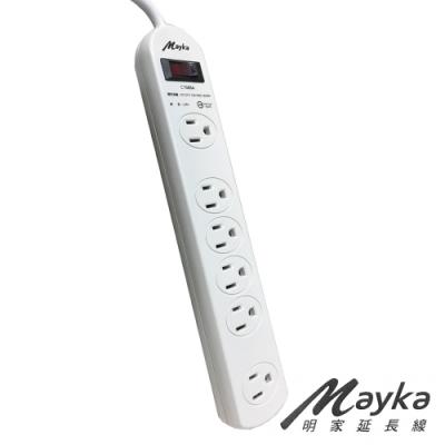 Mayka 明家 C7688A-6 1開6插電腦延長線 1.8M 6呎