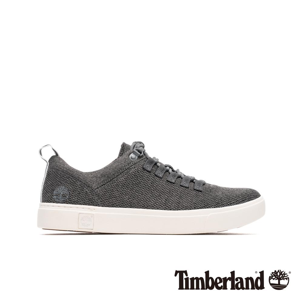 Timberland 男款中灰色針織牛津休閒鞋|A1ZSG