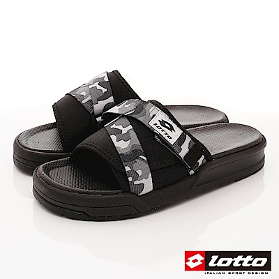 Lotto樂得-潮流運動拖鞋-SI 778 迷彩灰(男段)