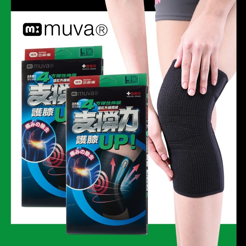 muva 遠紅外線專業支撐護膝(2入)