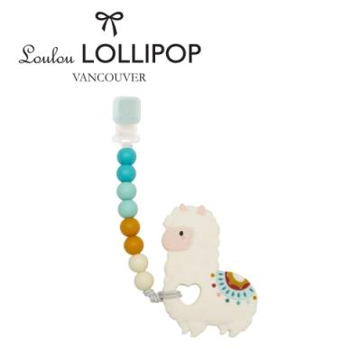 加拿大Loulou lollipop嬰幼兒草泥馬造型 固齒器組/奶嘴鍊夾-民族風